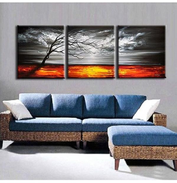 100% Handmade Oil Paintings Canvas-Framed #070