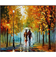 100% Handmade PALETTE KNIFE Oil Paintings Canvas-Framed #072