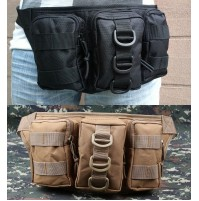 Tactical Outdoor Molle Triple Pouch Waist Pack Bag