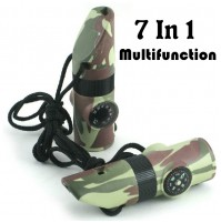 7 in 1 Multifunction Camping Survival Whistle