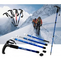 Extendable Anti Shock Hiking Walking Stick Pole (T Type)