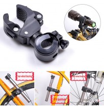 360°Rotation Torch Clip Mount Bicycle Light Holder