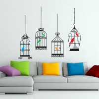 4 Cages 6 Birds With 5 Colors