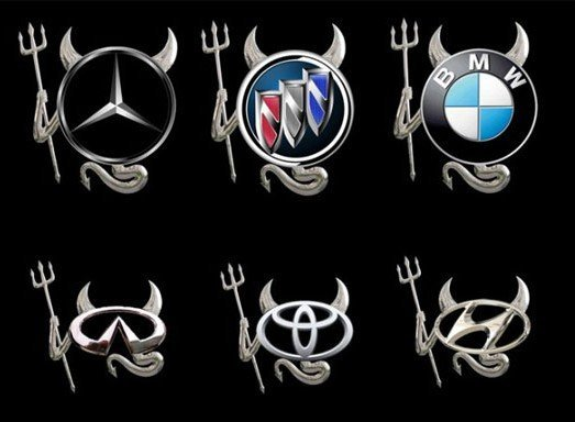 1 x 3d funny devil demon car decal emblem sticker